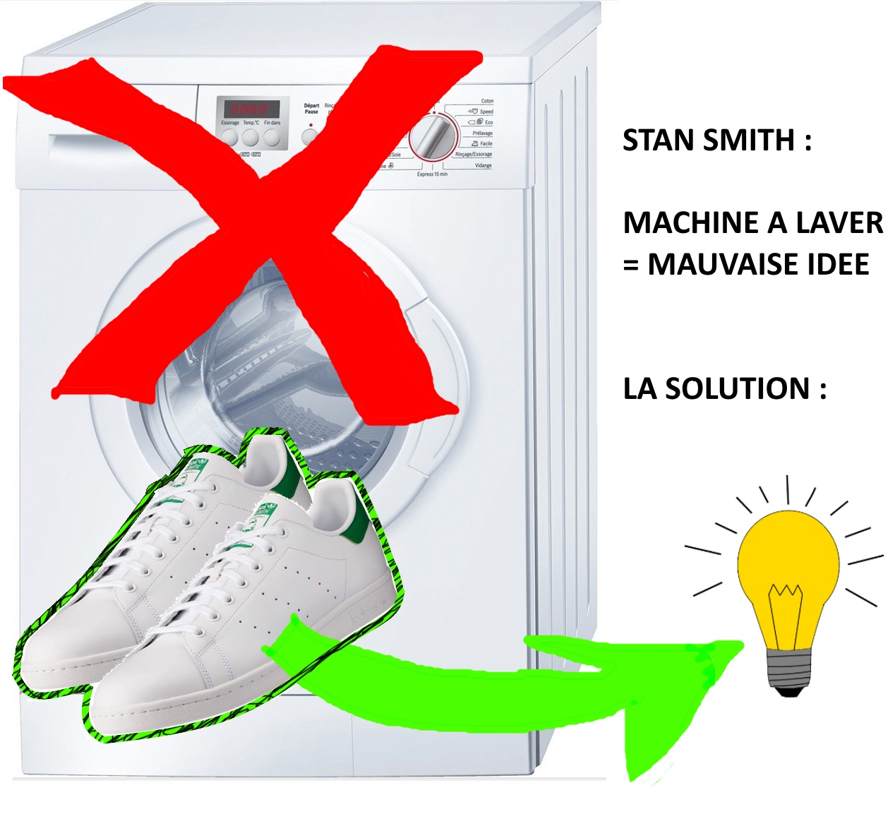 Stan smith : Machine à laver ?